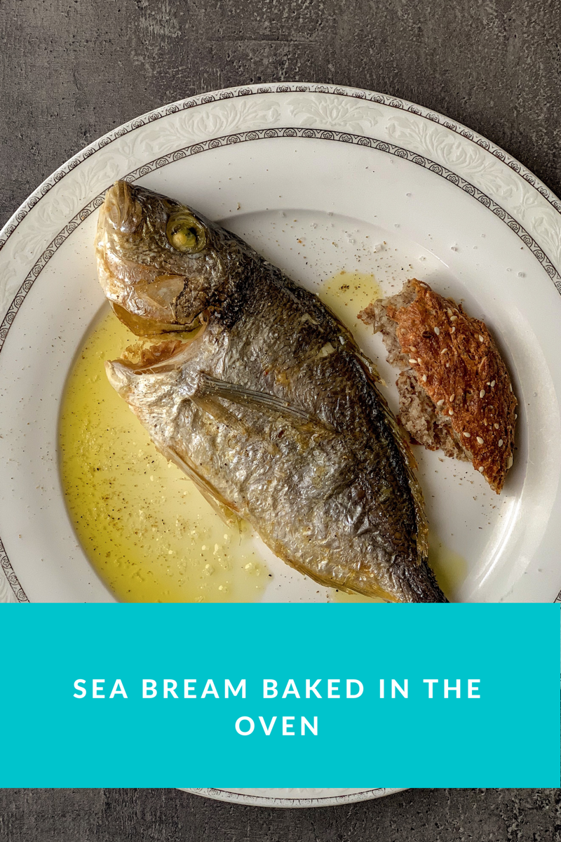 Picture of sea bream baked in oven