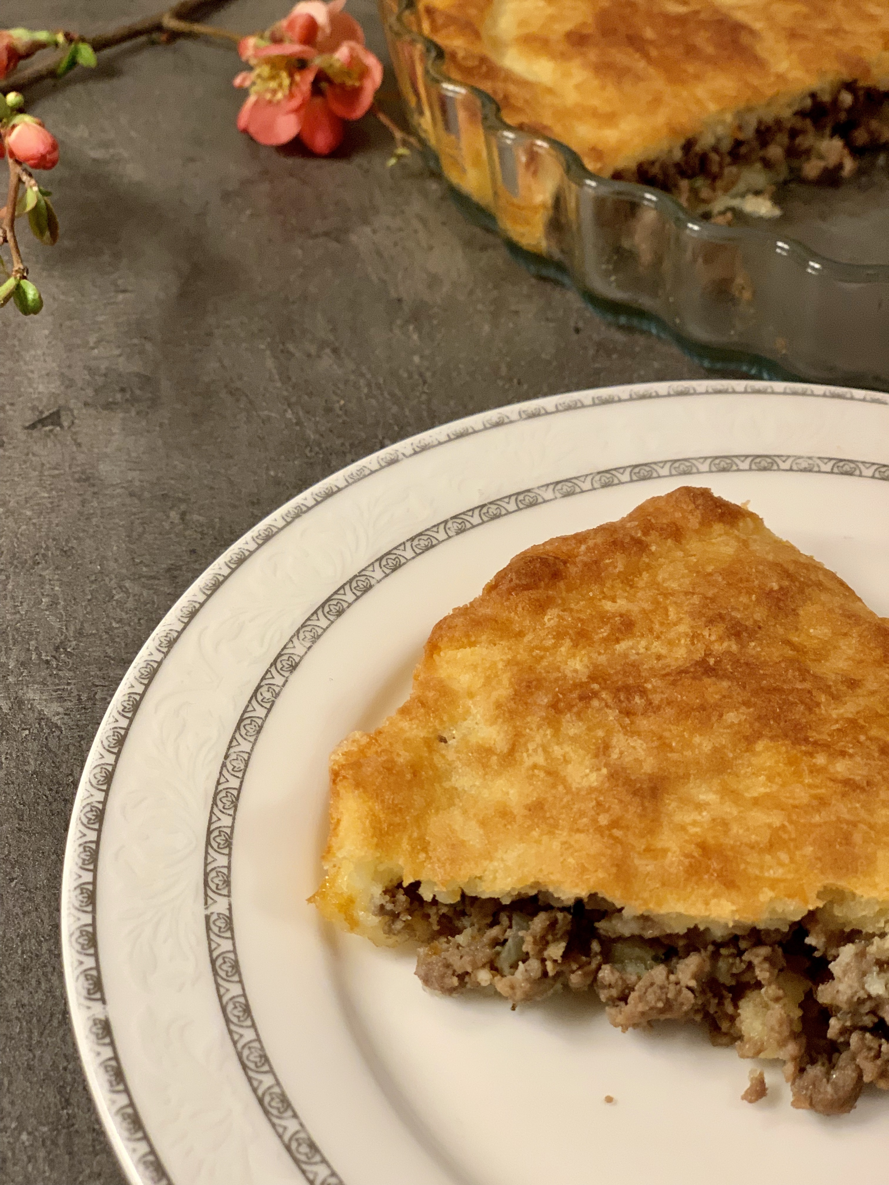 Picture of keto meat pie aka keto burek
