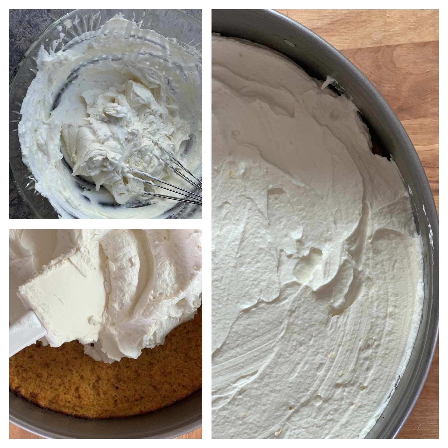 Picture of procedure to make sugar free cream cheese filling