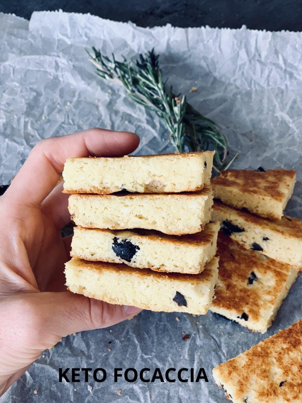 Picture of gluten free low carb focaccia keto focaccia bread