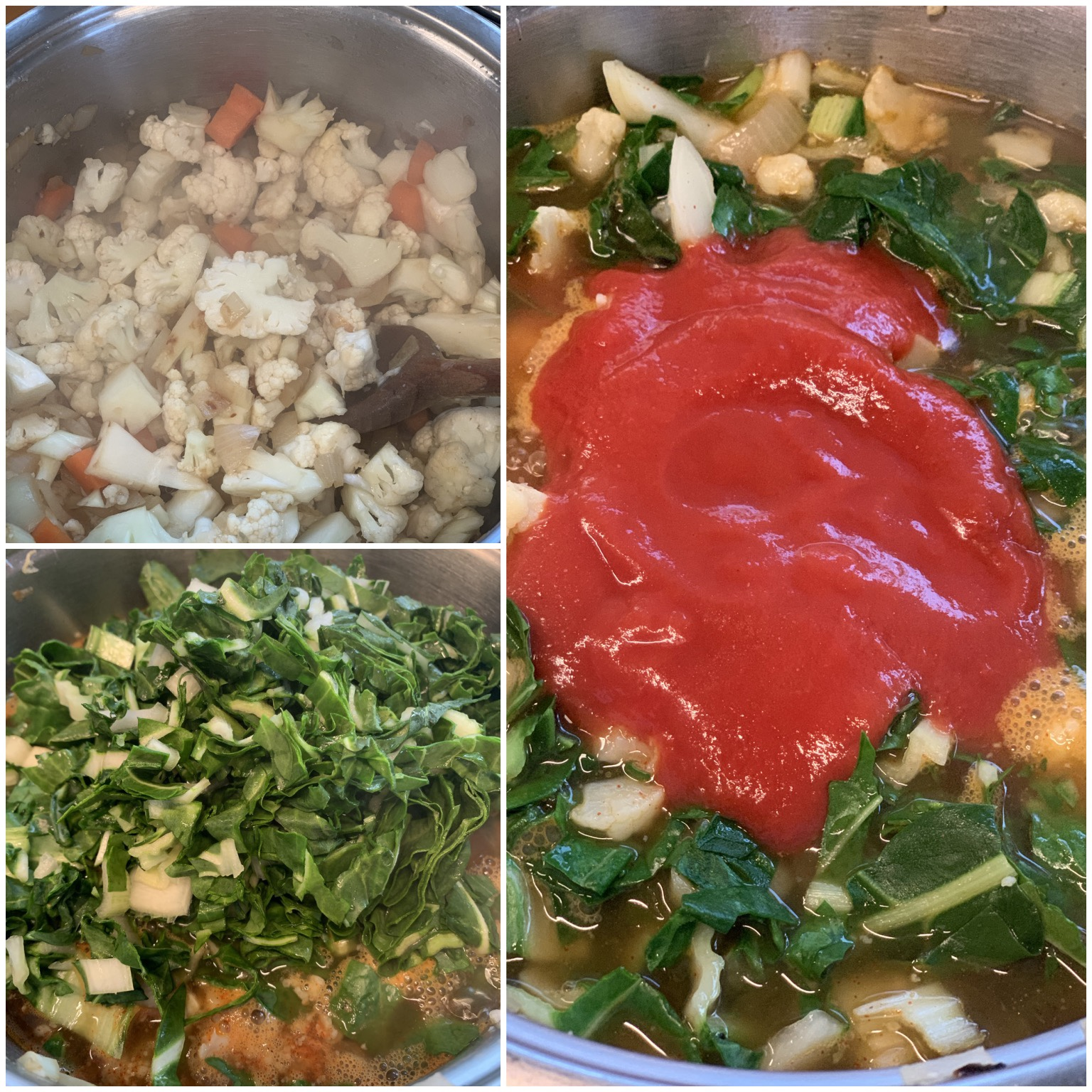 Picture of a procedure how to make low carb vegetable soup