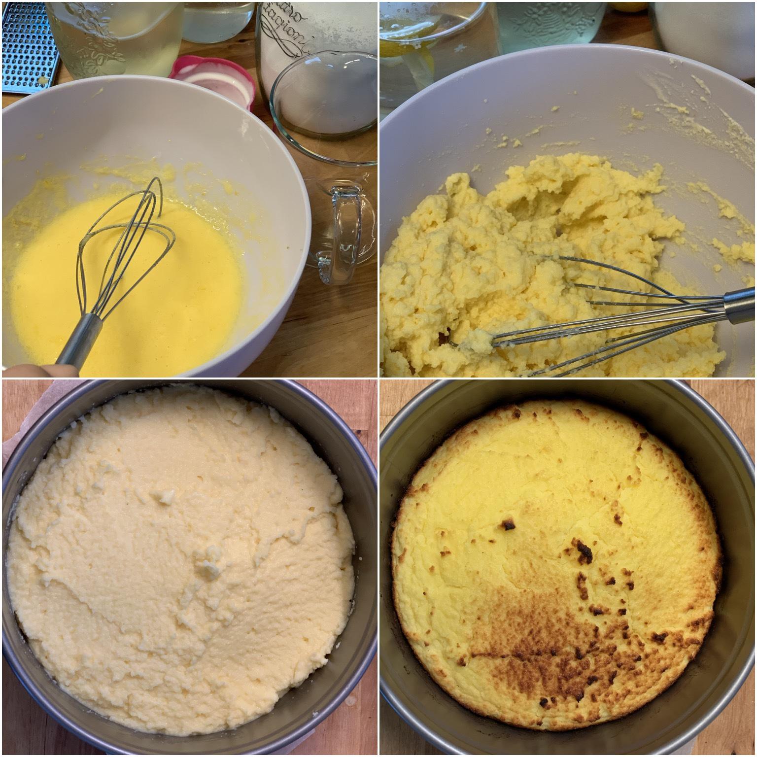 Picture of procedure to make elderflower cake
