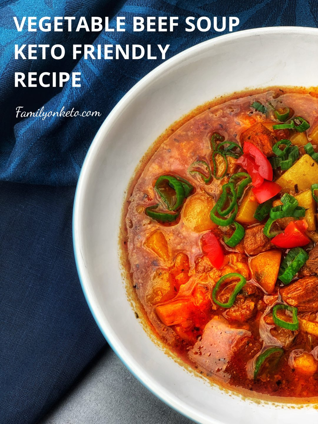 Picture of vegetable beef soup keto recipe