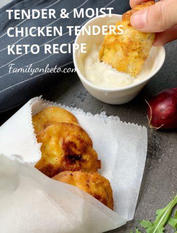 Picture of keto chicken tenders dipping