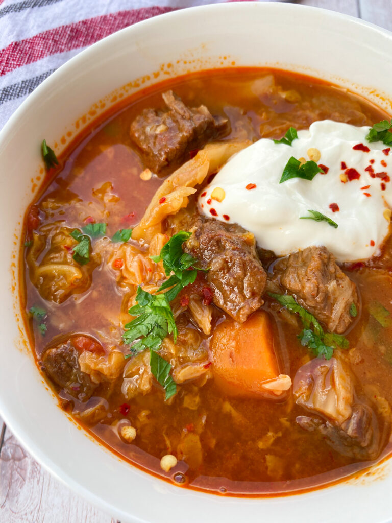 Picture of Savoy cabbage soup with beef