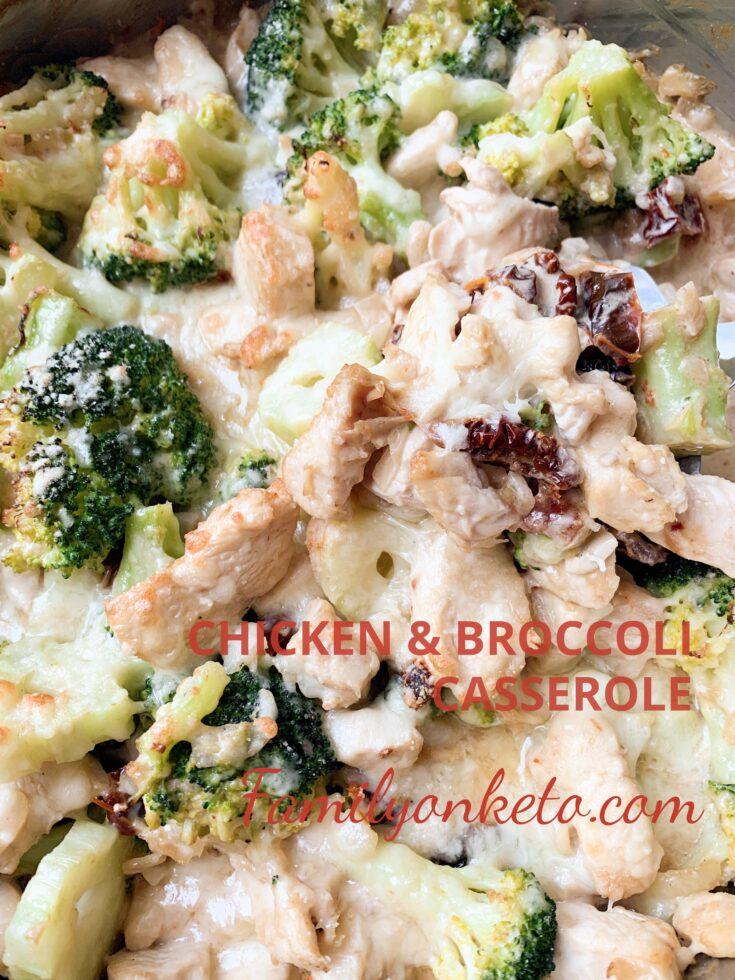 Picture of keto broccoli and chicken casserole