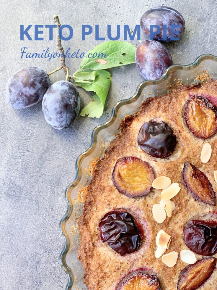 Picture of keto plum pie with ground almonds