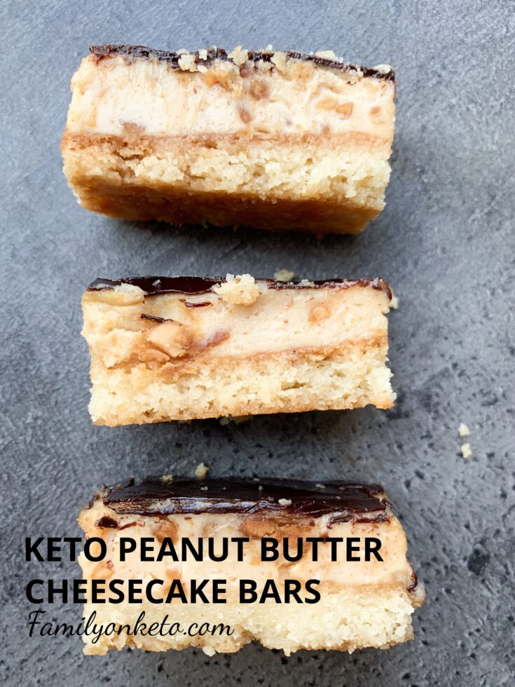 Picture of keto peanut butter cheesecake bars