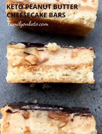 Keto peanut butter cheesecake bars