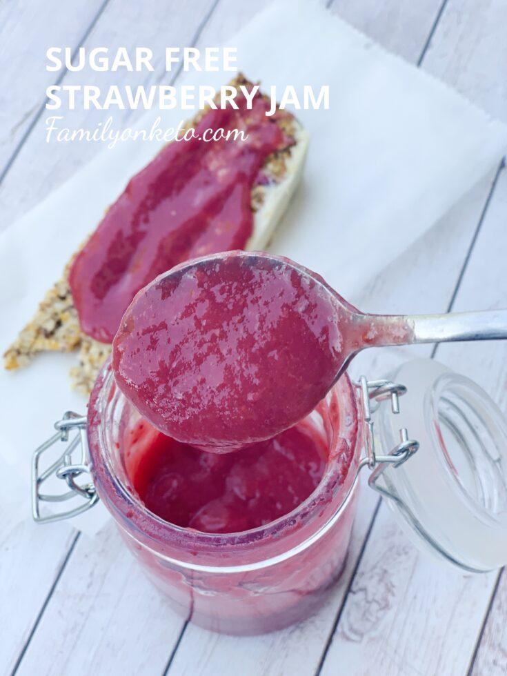 Keto sugar free strawberry jam