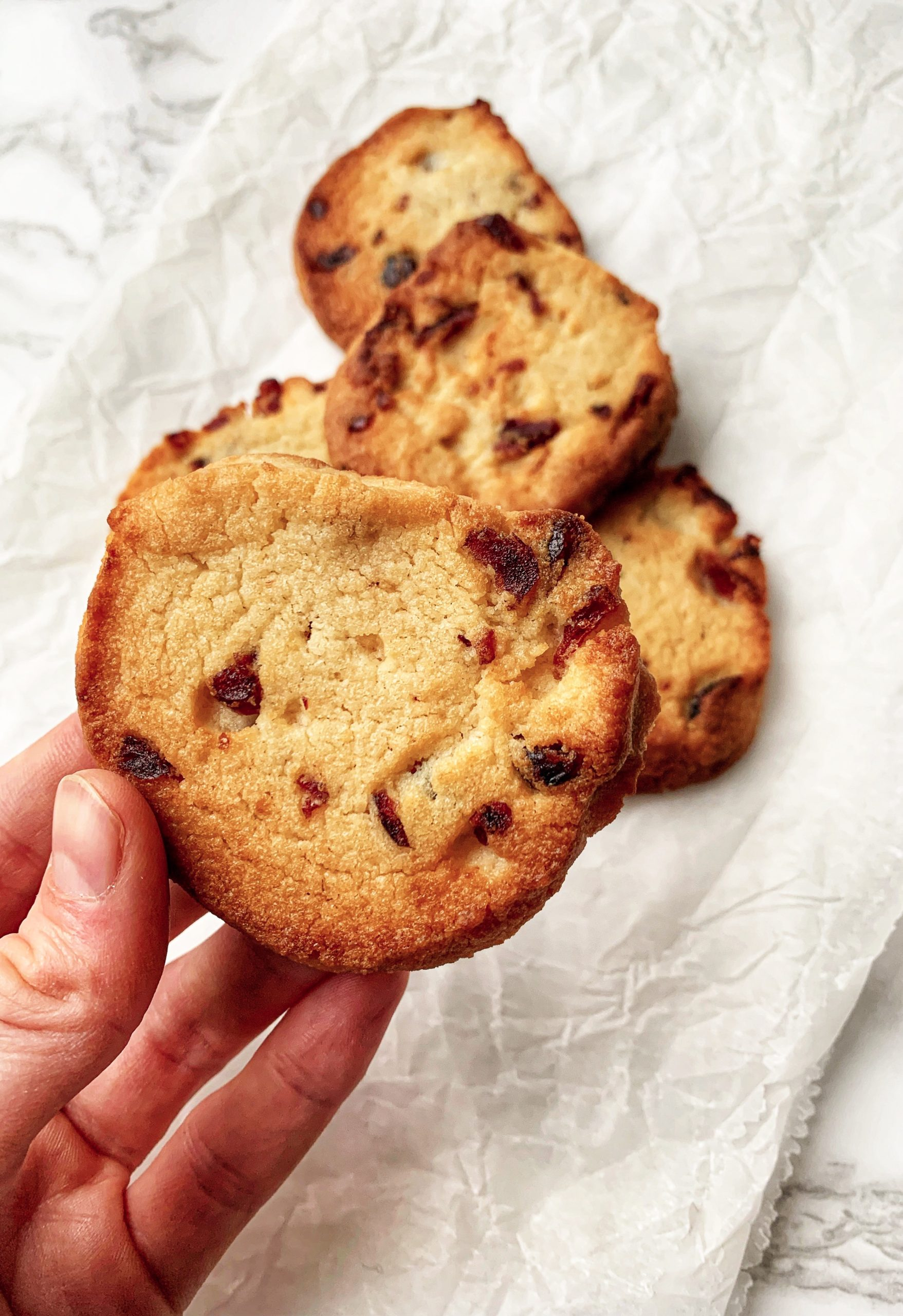 Picture of keto cookie in a hand