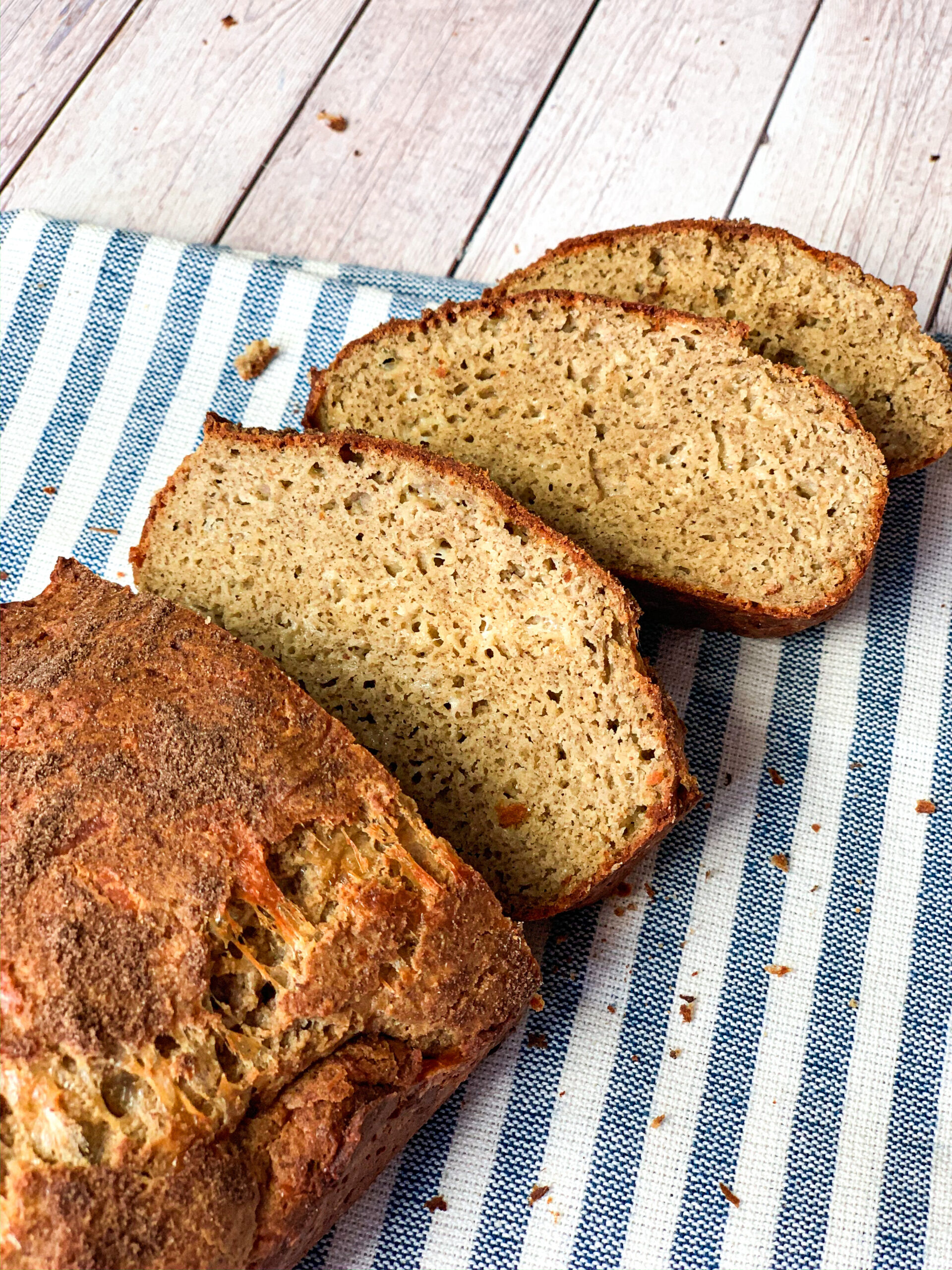 Low carb sandwich bread with yeast on the table