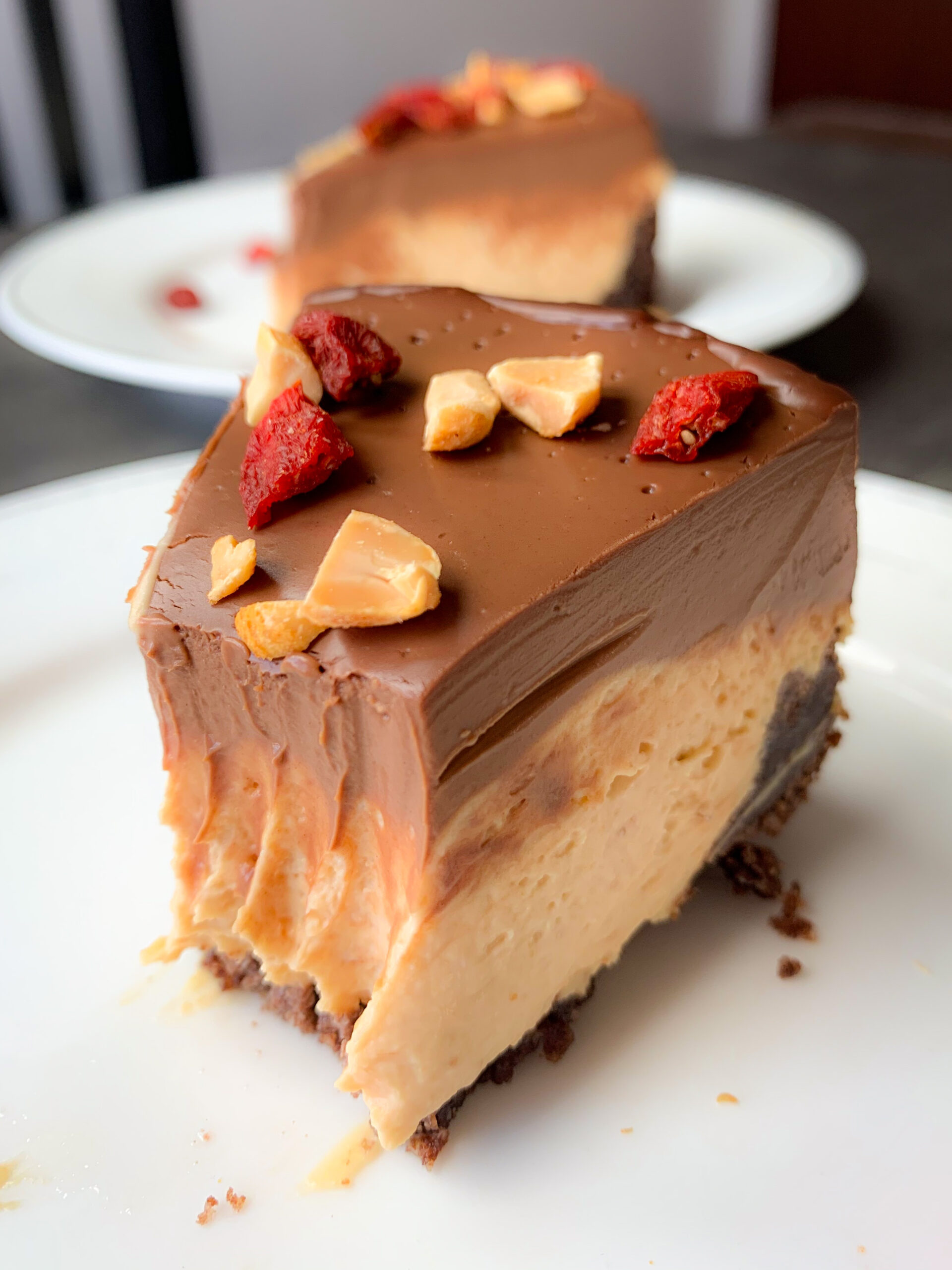 Picture of peanut butter cream pie keto recipe