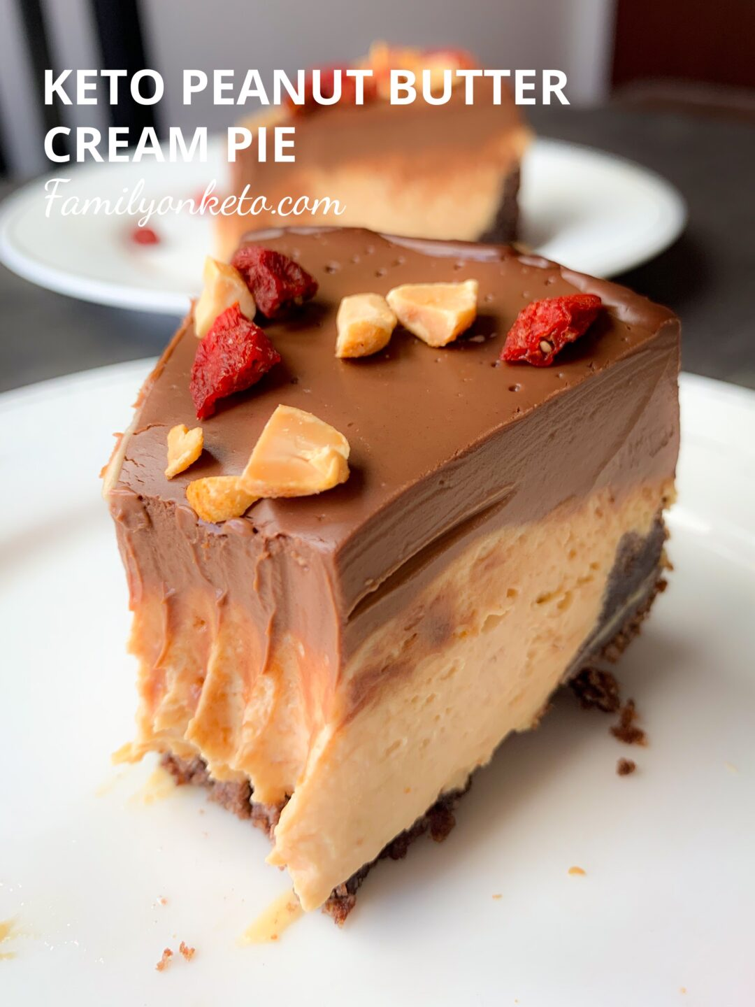 Picture of keto peanut butter cream pie
