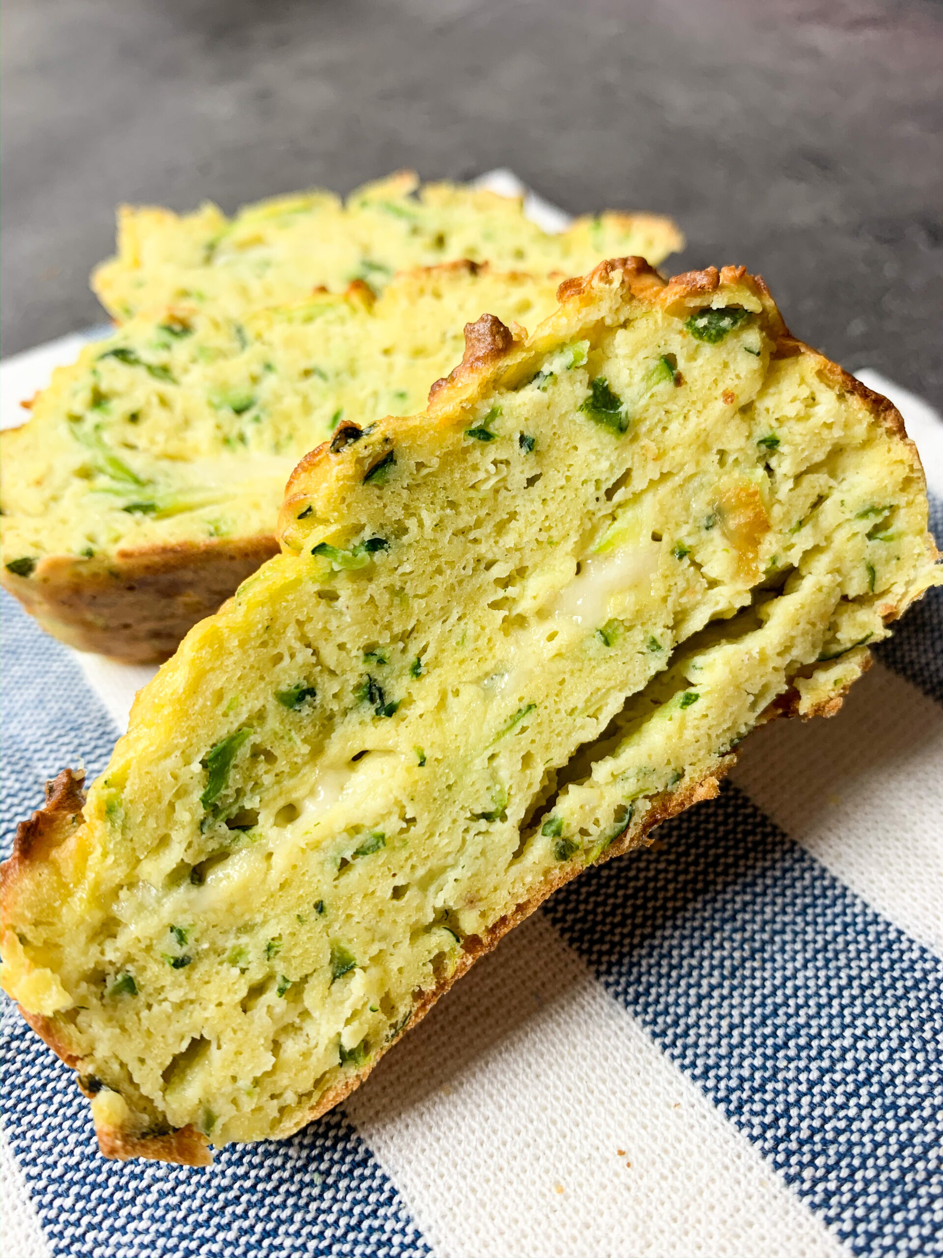 Picture of low carb zucchini bread with cheese