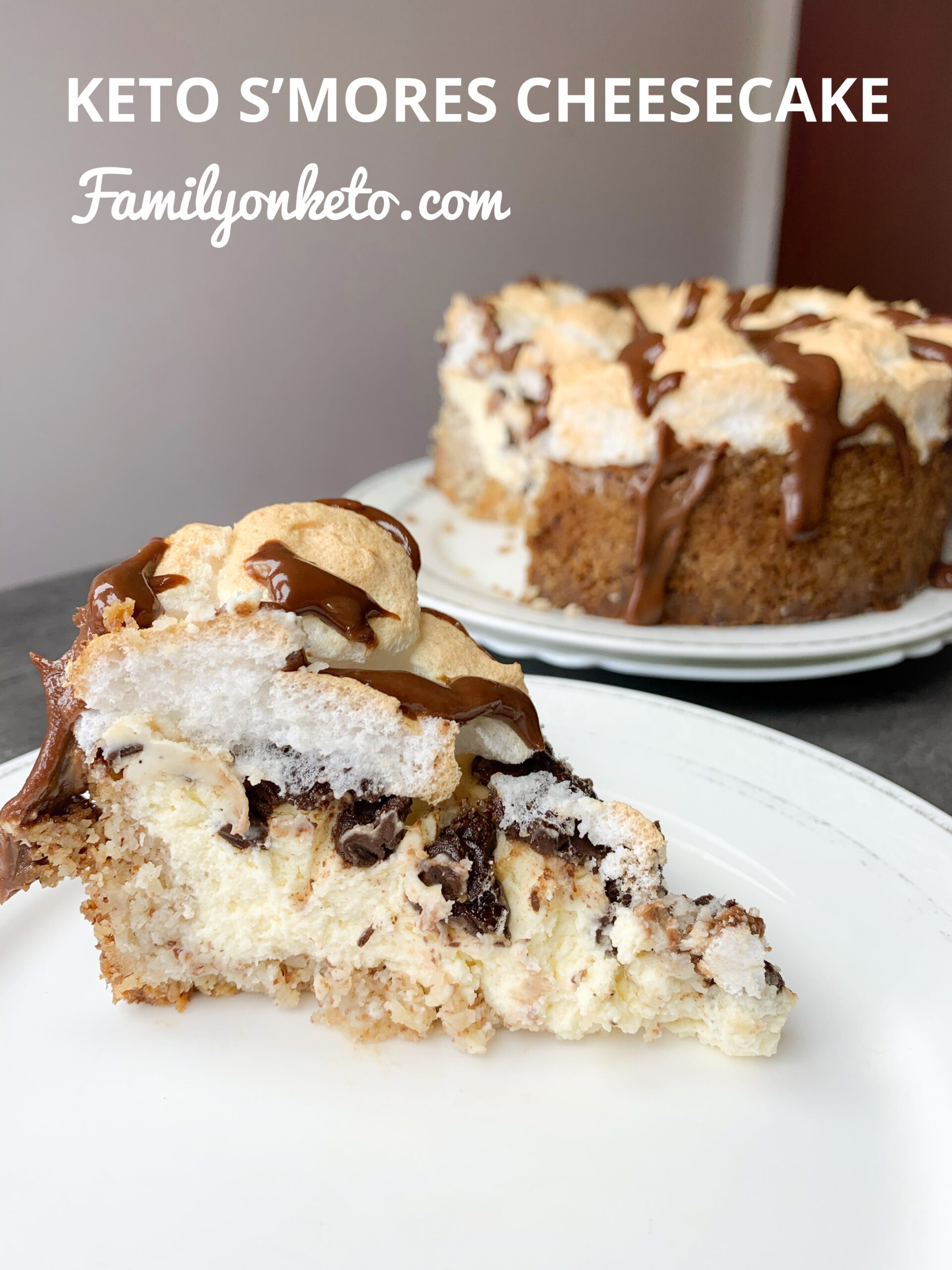 Picture of keto S'mores cheesecake