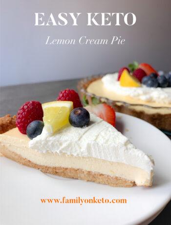 Picture easy keto lemon cream pie with lemon cream with mascarpone cheese