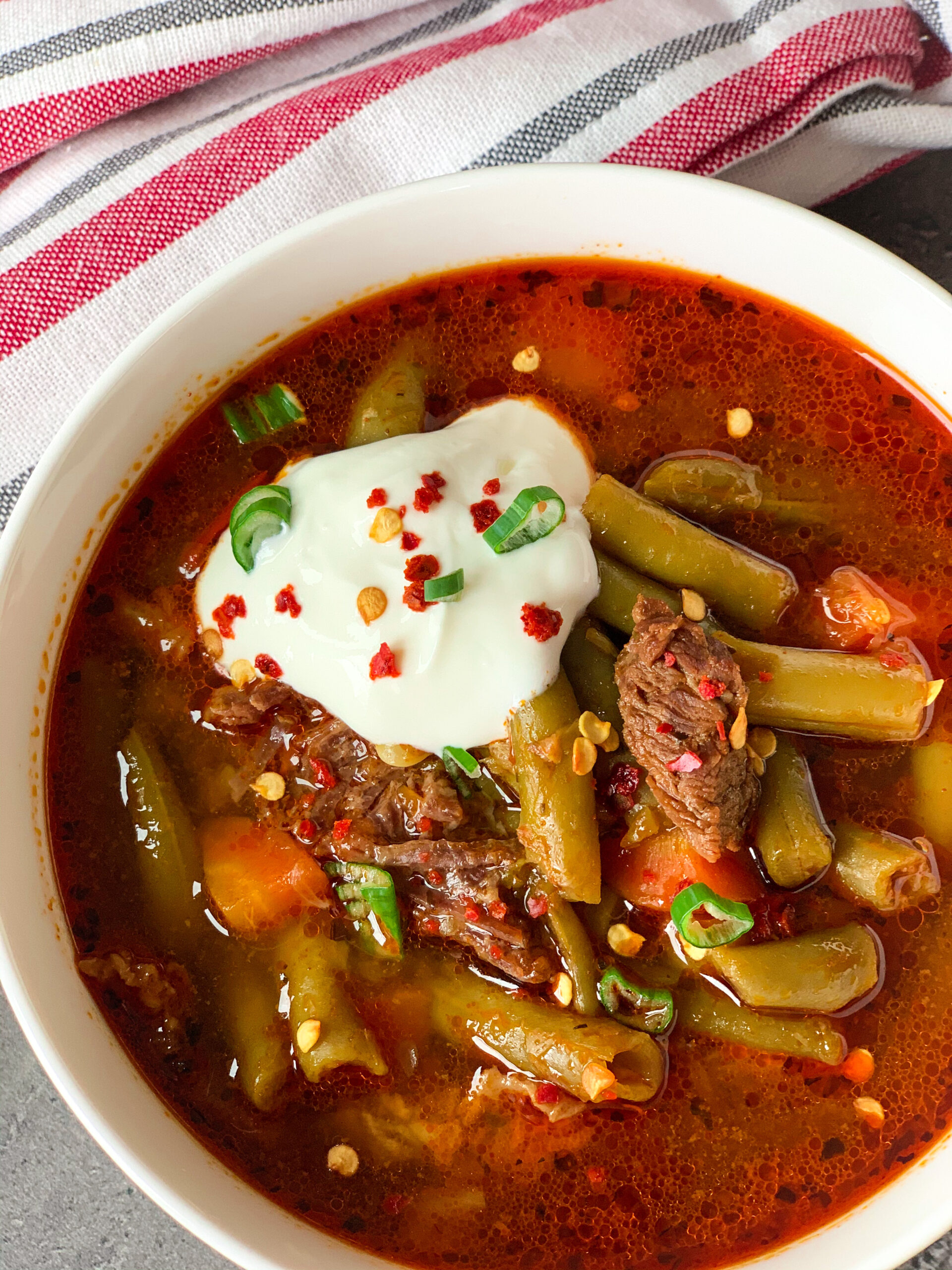 Photo of low carb green bean stew with beef