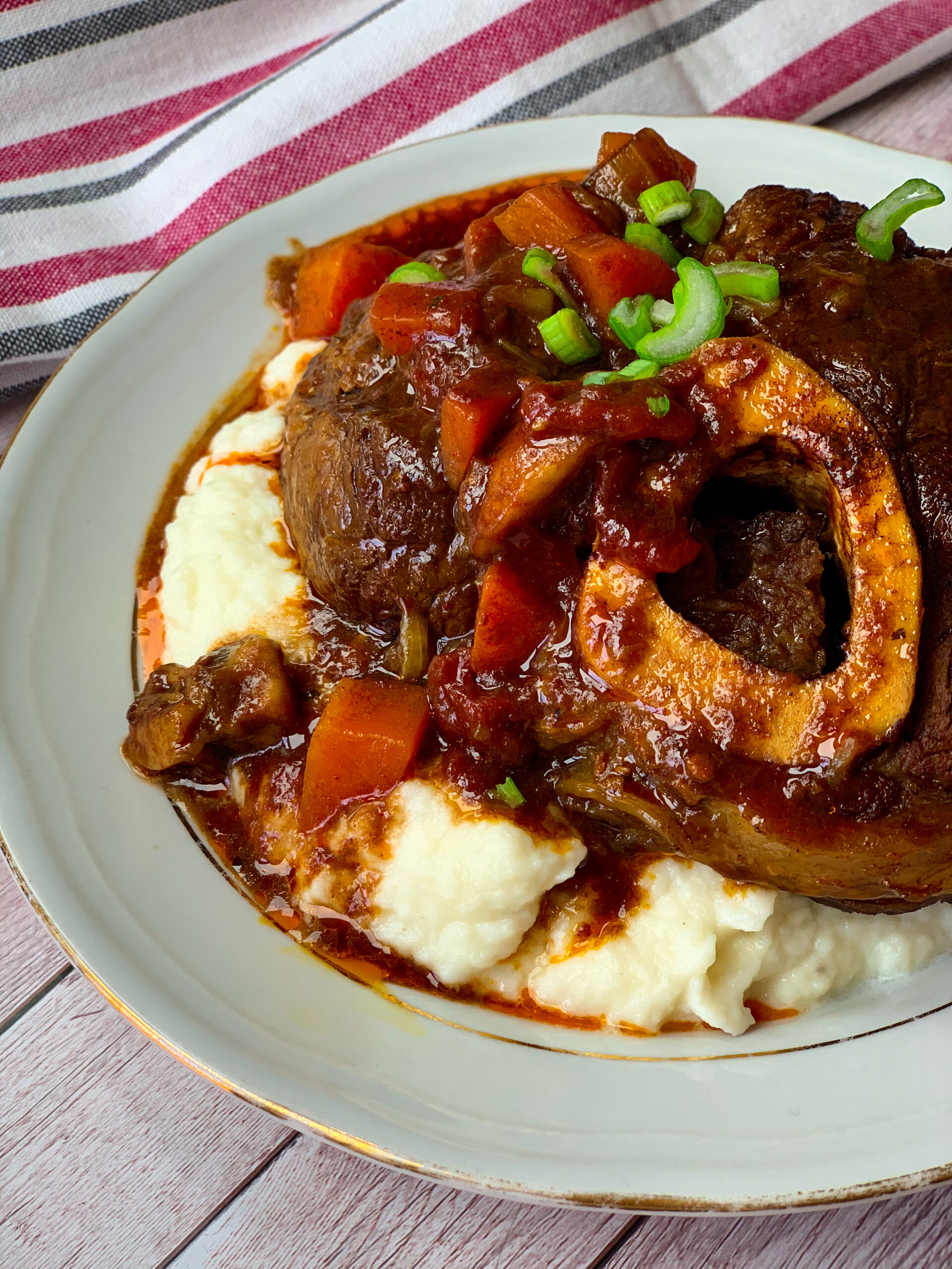 Picture of delicious low carb beef osso buco