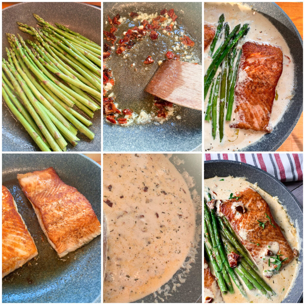 Picture of a procedure to make keto salmon recipe