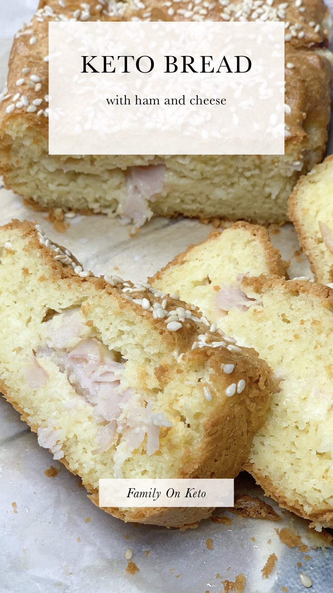 Picture of almond keto bread with ham and cheese
