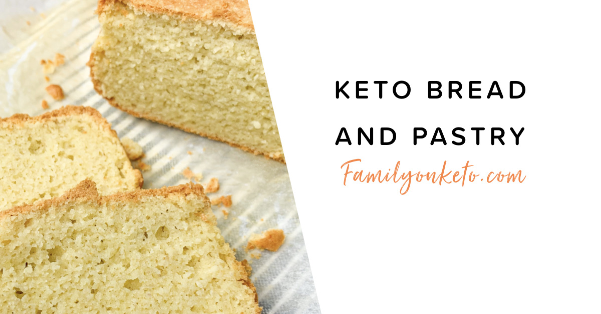Picture of keto breads and pastries for lazy keto or to fit in macros calculator for low carb