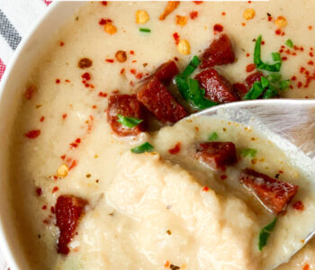Picture of cream of cauliflower soup