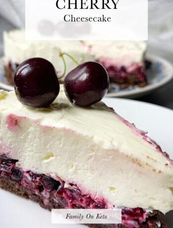 Photo of keto cherry cheesecake recipe or keto Black Forest cheesecake