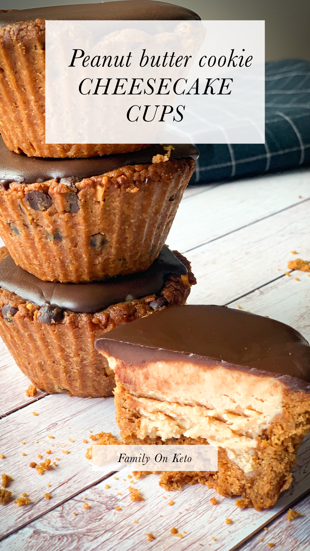 Picture of Peanut butter cookie cheesecake cups keto recipe