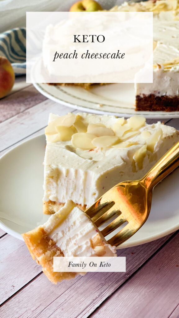 Picture of keto peach cheesecake