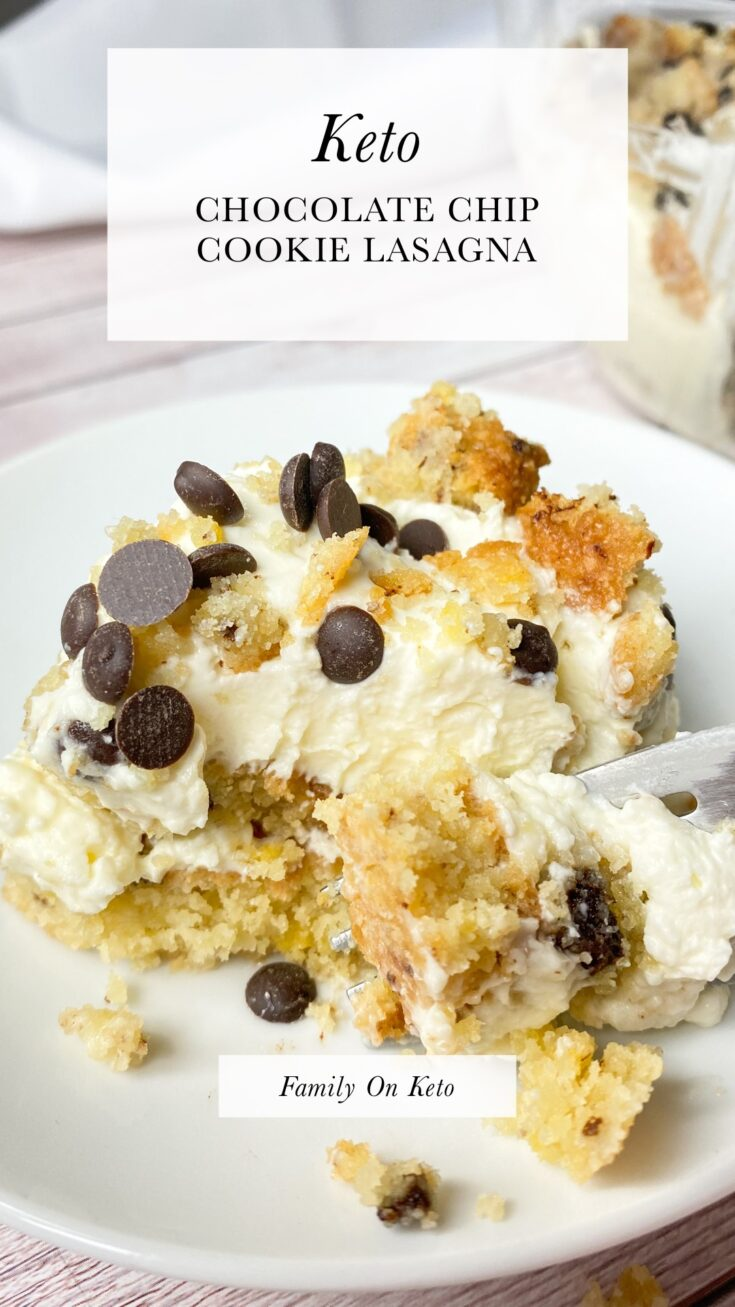 Picture of keto chocolate chip cookie lasagna