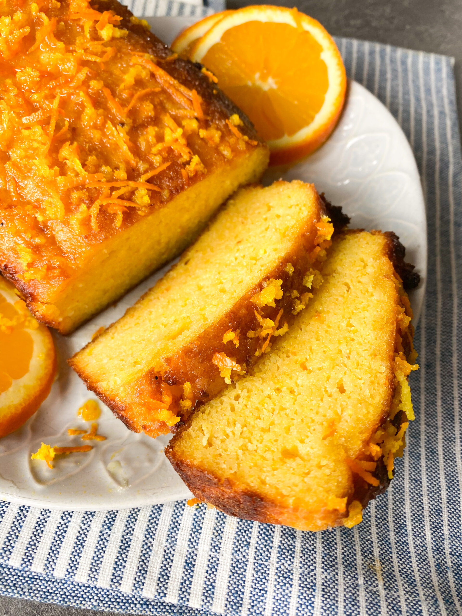 Picture of keto orange and almond loaf