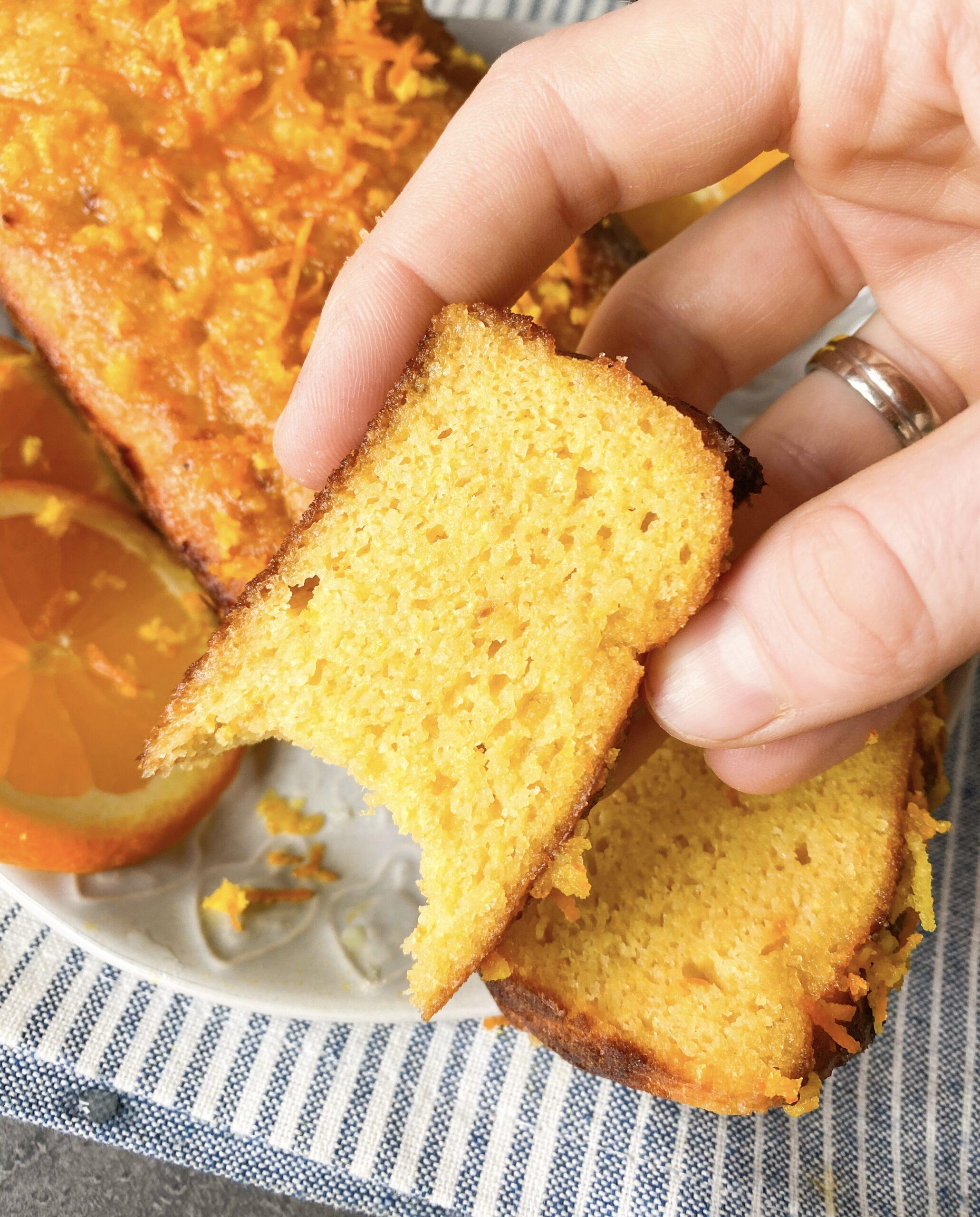 Picture of keto orange bread or diabetic orange cake