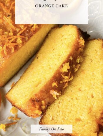 Picture of sugar free orange cake recipe cut in slices