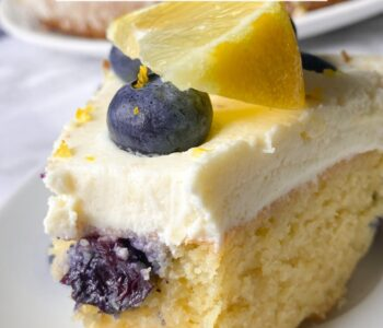 Picture of sugar-free lemon blueberry cake