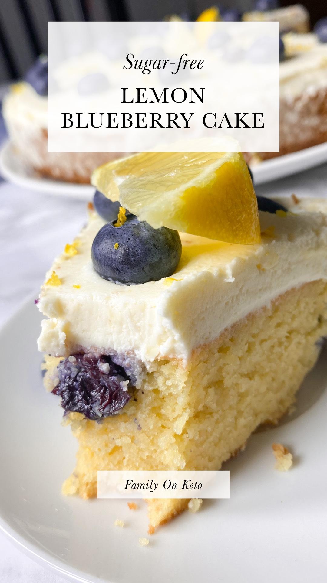 Picture of sugar-free lemon blueberry cake