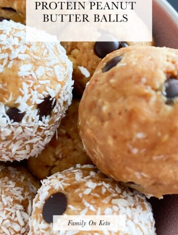 Picture of low carb protein energy balls
