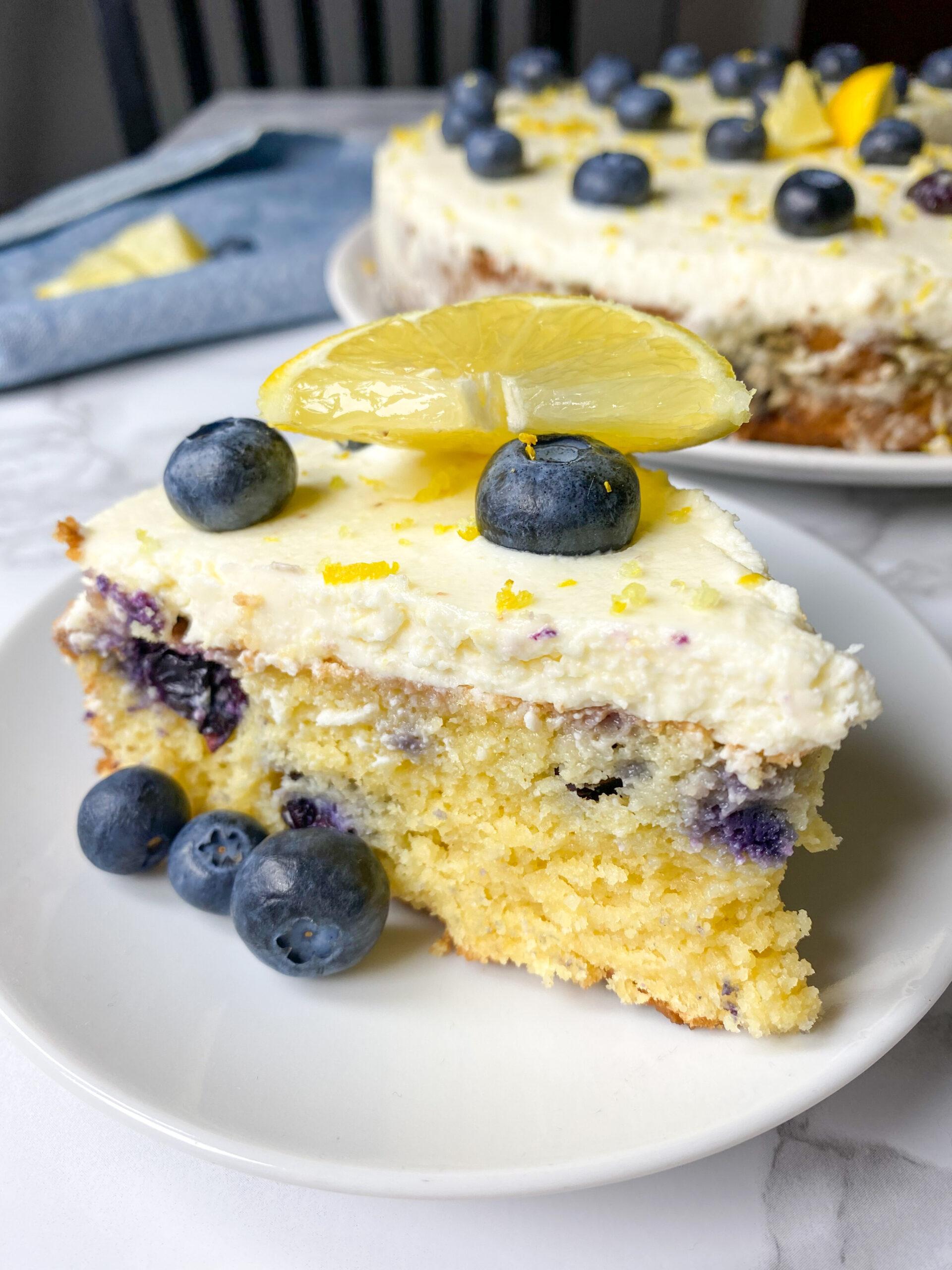 Picture of keto lemon blueberry dessert