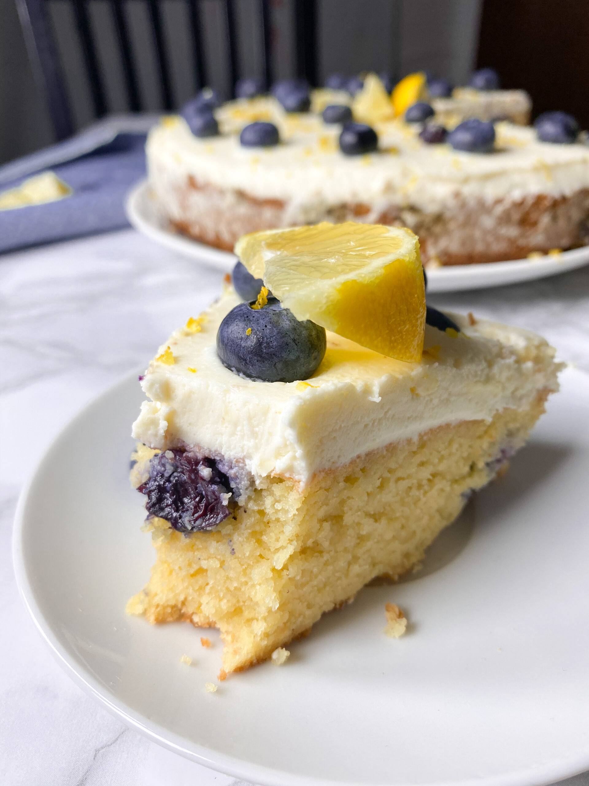 Picture of low carb lemon blueberry cake