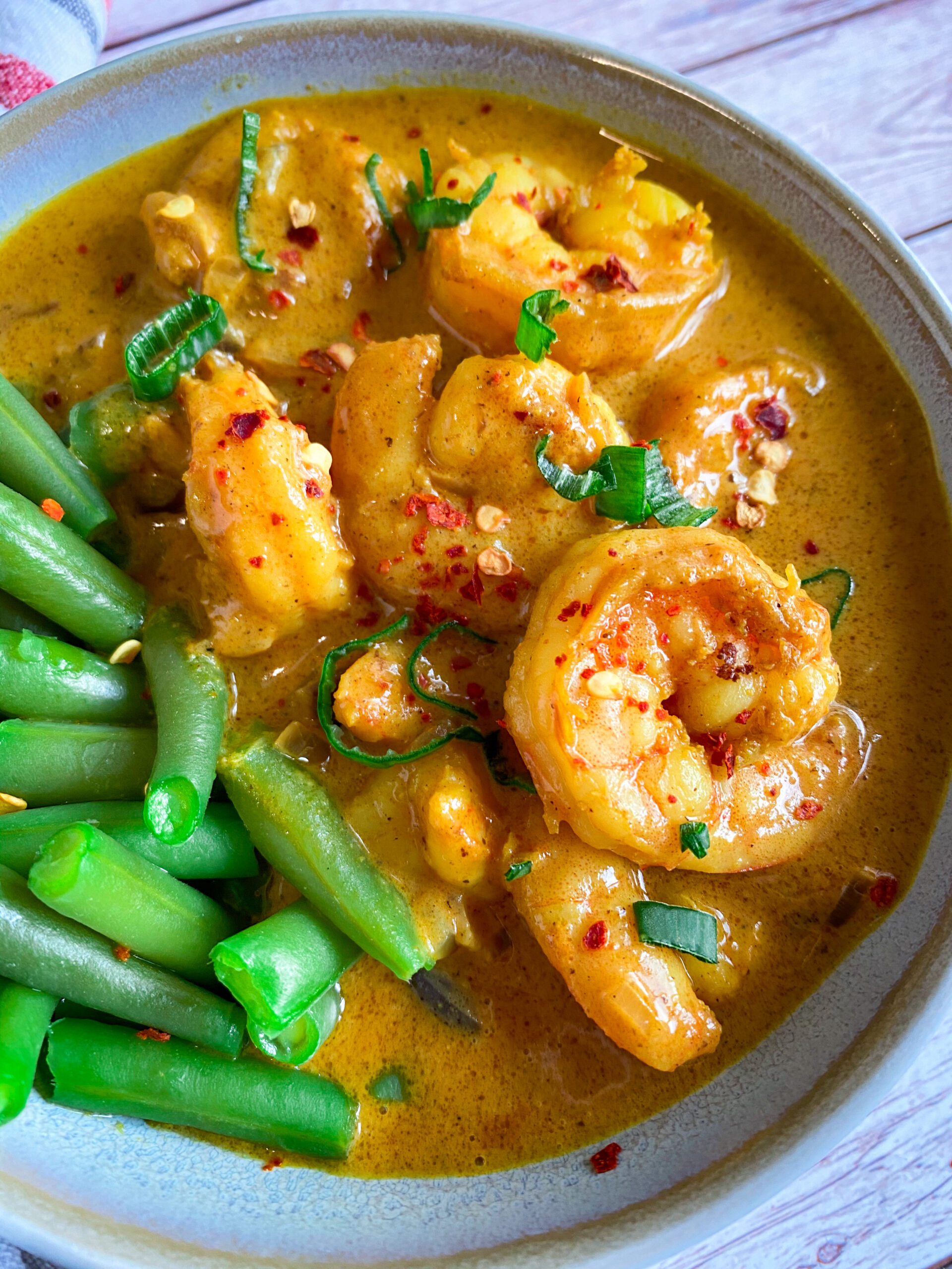 Picture of low carb prawn curry