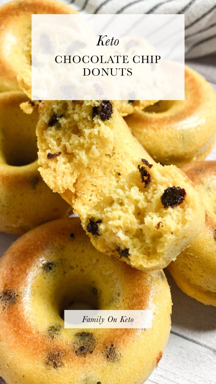 Photo of keto chocolate chip donuts