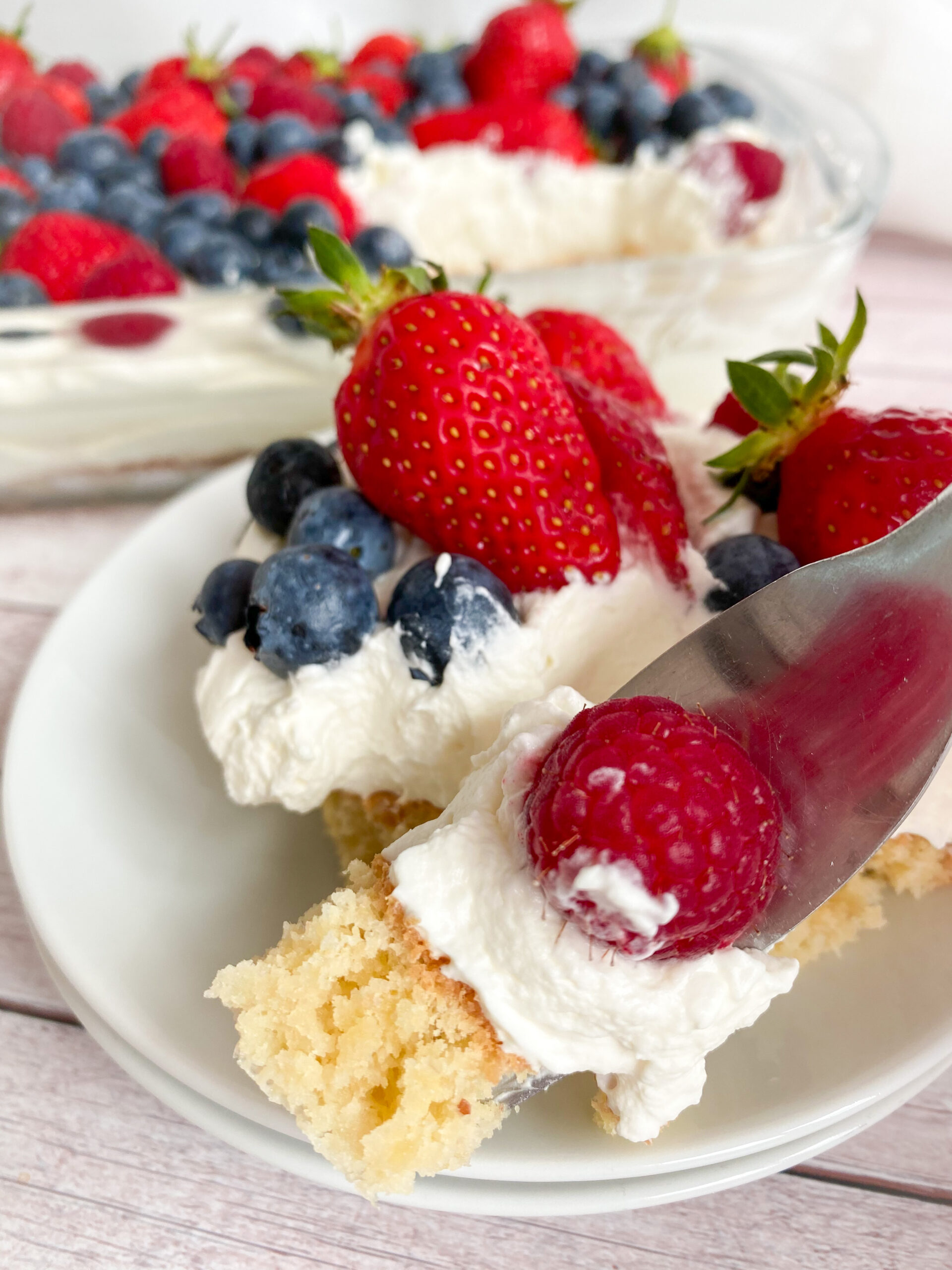 Picture of keto berries cake recipe