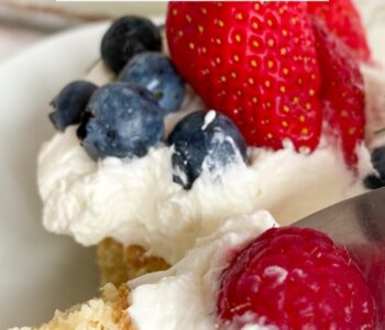 Picture of keto berries and cream cake bars