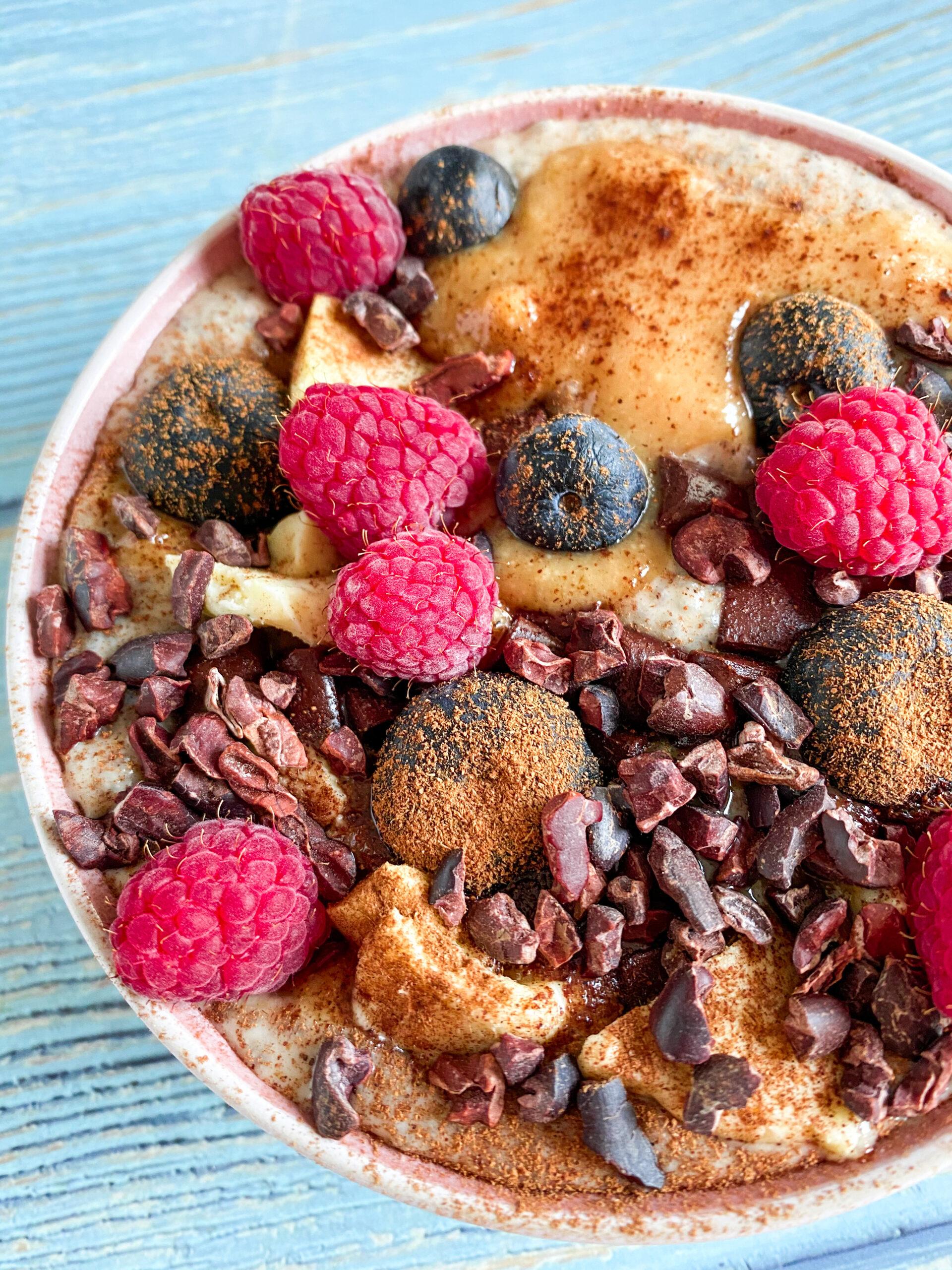 Picture of keto vegan cinnamon porridge