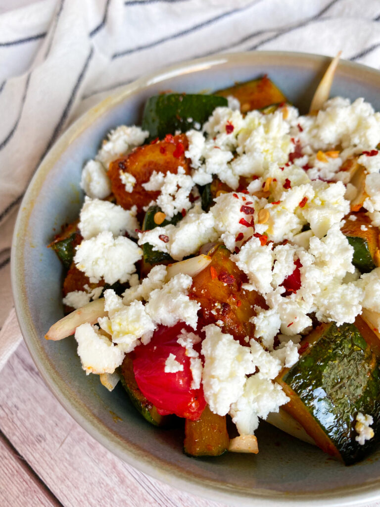 Picture of Mediterranean zucchini salad with tomatoes and feta